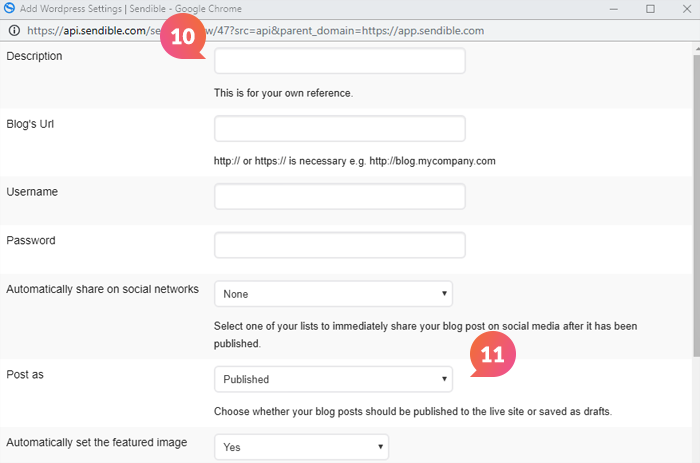 How Do I Add My Wordpress Blog To Sendible? – Sendible Support
